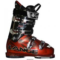 Sjezdové boty LANGE RX 110 červená/černá
