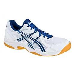 Sálové boty ASICS Gel - Doha bílá/tmavě modrá/stříbrná