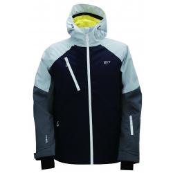 Pánská lyžařská bunda Grytnäs 2117 modrá/šedá/žlutá
