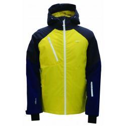Pánská lyžařská bunda Grytnäs 2117 modrá/žlutá/šedá