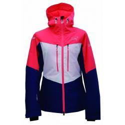 Dámská lyžařská bunda Ludvika ECO 2117 oranžová/modrá/bílá